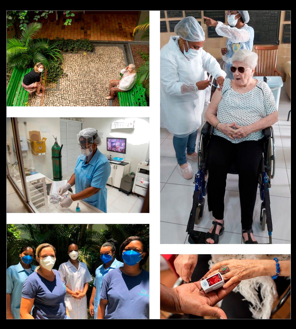 Fotos da vacinação